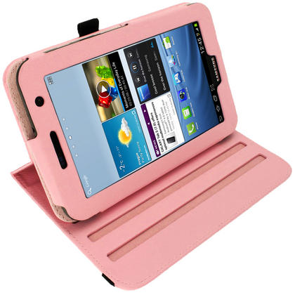 iGadgitz Pink 360° Rotating Detachable PU Leather Case for Samsung Galaxy Tab 2 P3100 P3110 7.0 4.0 + Screen Protector Thumbnail 7