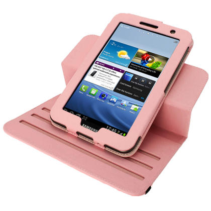 iGadgitz Pink 360° Rotating Detachable PU Leather Case for Samsung Galaxy Tab 2 P3100 P3110 7.0 4.0 + Screen Protector Thumbnail 8