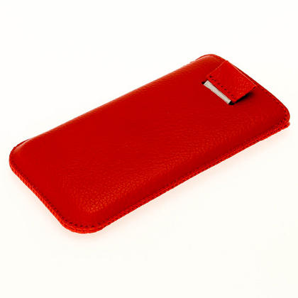 iGadgitz Red Leather Pouch Case Cover for New Apple iPhone 5 5S 5C SE Mobile Phone 4G LTE Thumbnail 3
