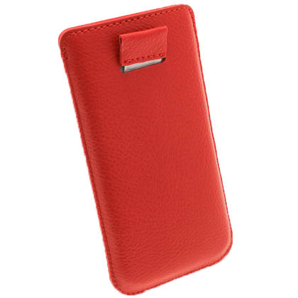 iGadgitz Red Leather Pouch Case Cover for New Apple iPhone 5 5S 5C SE Mobile Phone 4G LTE Thumbnail 4