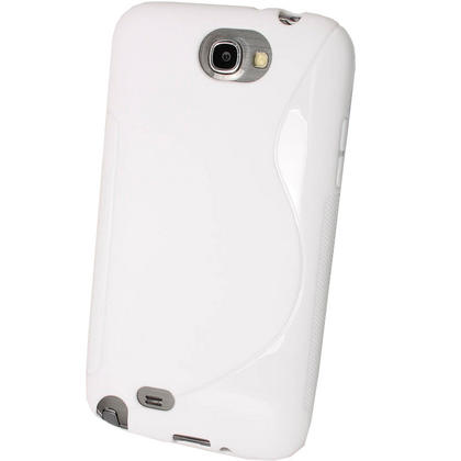 iGadgitz Dual Tone White Gel Case for Samsung Galaxy Note 2 II N7100 Smartphone Tablet + Screen Protector Thumbnail 3