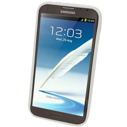 iGadgitz Dual Tone White Gel Case for Samsung Galaxy Note 2 II N7100 Smartphone Tablet + Screen Protector Thumbnail 2