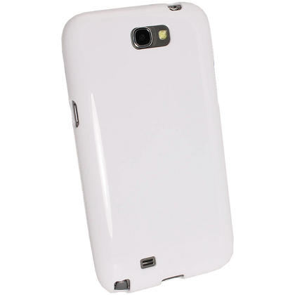 iGadgitz White Glossy Gel Case for Samsung Galaxy Note 2 II N7100 Smartphone Tablet + Screen Protector Thumbnail 3