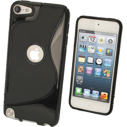 iGadgitz S Line Black Crystal Gel Skin (TPU) Case Cover for Apple iPod Touch 6th & 5th Generation Thumbnail 1