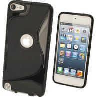 iGadgitz S Line Black Crystal Gel Skin (TPU) Case Cover for Apple iPod Touch 6th & 5th Generation