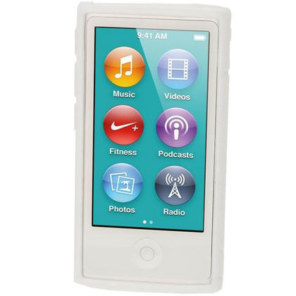 iGadgitz Dual Tone White Gel Case for Apple iPod Nano 7th Generation 7G 16GB + Screen Protector Thumbnail 2