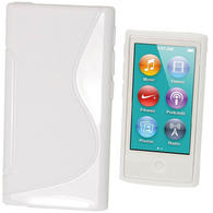 iGadgitz Dual Tone White Gel Case for Apple iPod Nano 7th Generation 7G 16GB + Screen Protector