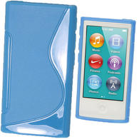 iGadgitz Dual Tone Blue Gel Case for Apple iPod Nano 7th Generation 7G 16GB + Screen Protector