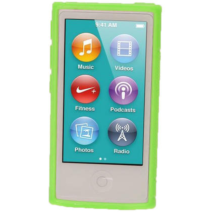 iGadgitz Dual Tone Green Gel Case for Apple iPod Nano 7th Generation 7G 16GB + Screen Protector Thumbnail 2