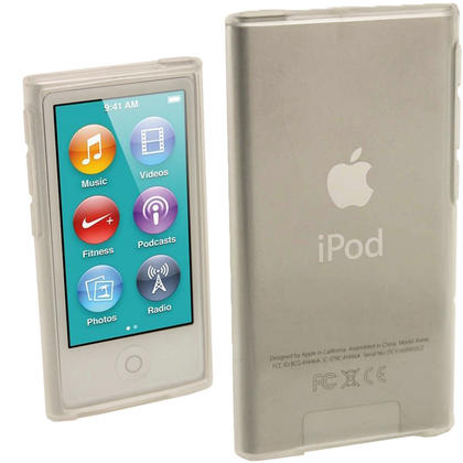 iGadgitz Clear Glossy Gel Case for Apple iPod Nano 7th Generation 7G 16GB + Screen Protector Thumbnail 1