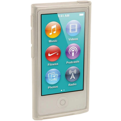 iGadgitz Clear Glossy Gel Case for Apple iPod Nano 7th Generation 7G 16GB + Screen Protector Thumbnail 2