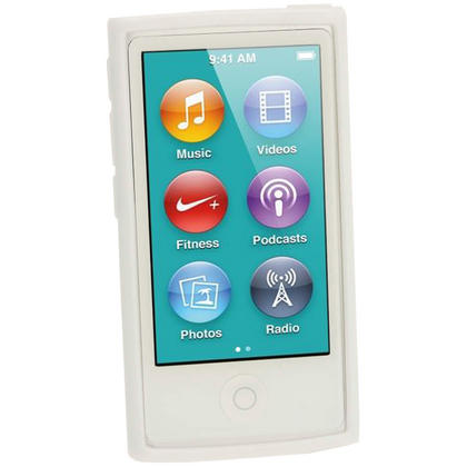 iGadgitz White Glossy Gel Case for Apple iPod Nano 7th Generation 7G 16GB + Screen Protector Thumbnail 2