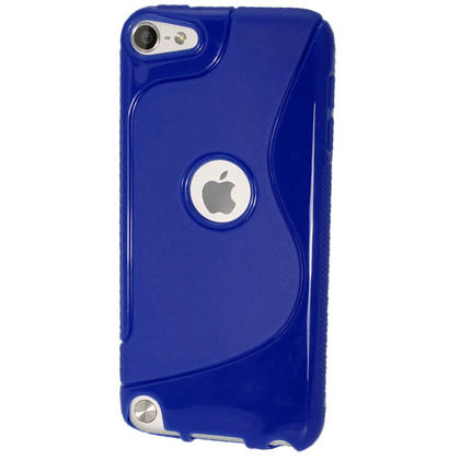 iGadgitz S Line Blue Crystal Gel Skin (TPU) Case Cover for Apple iPod Touch 6th & 5th Generation + Screen Protector Thumbnail 3