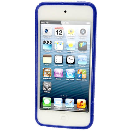 iGadgitz S Line Blue Crystal Gel Skin (TPU) Case Cover for Apple iPod Touch 6th & 5th Generation + Screen Protector Thumbnail 4