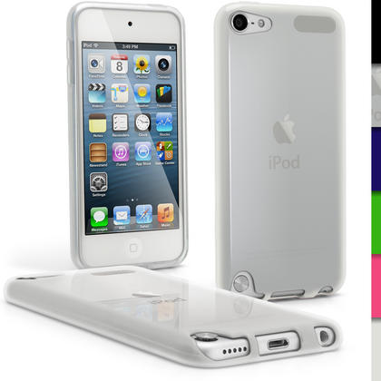 iGadgitz Clear Glossy Crystal Gel Skin TPU Case Cover for Apple iPod Touch 6th & 5th Generation + Screen Protector Thumbnail 1