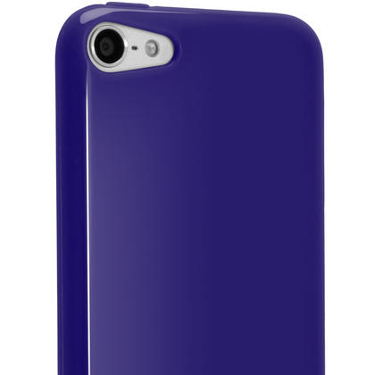 iGadgitz Blue Glossy Crystal Gel Skin TPU Case Cover for Apple iPod Touch 6th & 5th Generation + Screen Protector Thumbnail 5