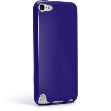 iGadgitz Blue Glossy Crystal Gel Skin TPU Case Cover for Apple iPod Touch 6th & 5th Generation + Screen Protector Thumbnail 6