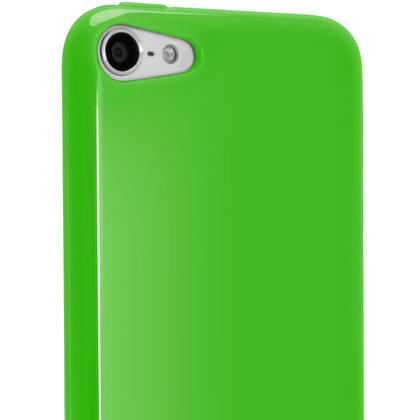 iGadgitz Green Glossy Crystal Gel Skin TPU Case Cover for Apple iPod Touch 6th & 5th Generation + Screen Protector Thumbnail 5