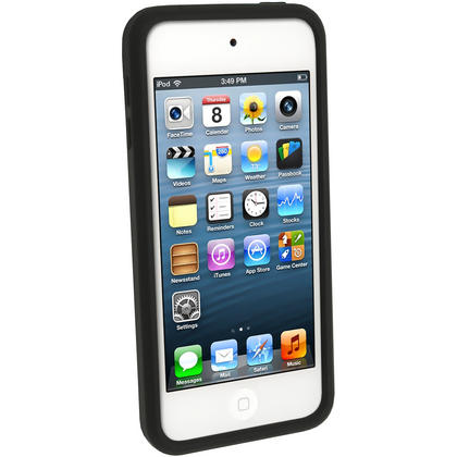 iGadgitz Black Silicone Skin Case Cover for Apple iPod Touch 6th & 5th Generation + Screen Protector Thumbnail 2