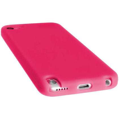 iGadgitz Pink Silicone Skin Case Cover for Apple iPod Touch 6th & 5th Generation + Screen Protector Thumbnail 2