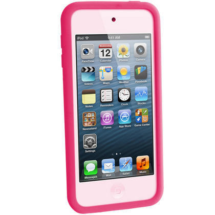 iGadgitz Pink Silicone Skin Case Cover for Apple iPod Touch 6th & 5th Generation + Screen Protector Thumbnail 3