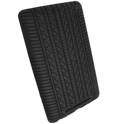 iGadgitz Black Silicone Skin Case with Tyre Tread Design for Google Nexus 7 (1st Gen released Jul 12) + Screen Protector Thumbnail 3