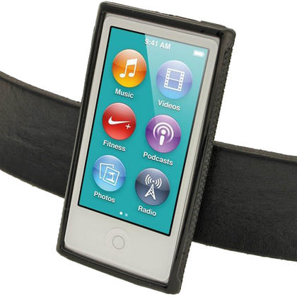 iGadgitz Black 'Clip'n'Go' Gel Case for Apple iPod Nano 7th Gen with Integrated Sports Clip + Screen Protector Thumbnail 5