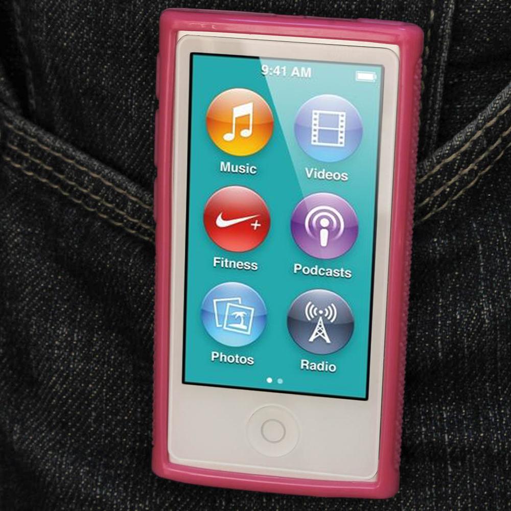 igadgitz pink 39 clip 39 n 39 go 39 gel case for apple ipod nano 7th. Black Bedroom Furniture Sets. Home Design Ideas
