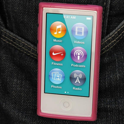 iGadgitz Pink 'Clip'n'Go' Gel Case for Apple iPod Nano 7th Gen with Integrated Sports Clip + Screen Protector Thumbnail 7