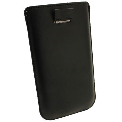 iGadgitz Black Leather Pouch Case Cover for Samsung Galaxy Note 2 II N7100 Android Smartphone Tablet Thumbnail 4