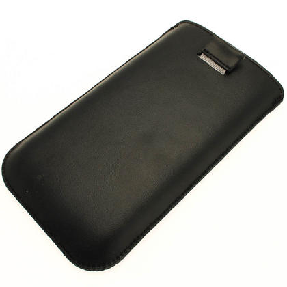 iGadgitz Black Leather Pouch Case Cover for Samsung Galaxy Note 2 II N7100 Android Smartphone Tablet Thumbnail 3