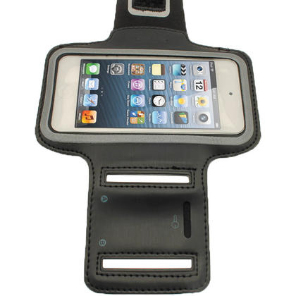iGadgitz Black Reflective Neoprene Sports Gym Jogging Armband for Apple iPod Touch 6th & 5th Generation Thumbnail 3