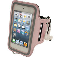 iGadgitz Pink Reflective Neoprene Sports Gym Jogging Armband for Apple iPod Touch 6th & 5th Generation