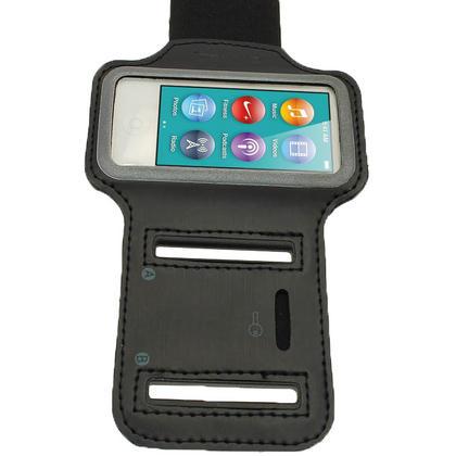 iGadgitz Black Reflective Anti-Slip Neoprene Sports Gym Jogging Armband for Apple iPod Nano 7th Generation 16GB Thumbnail 3