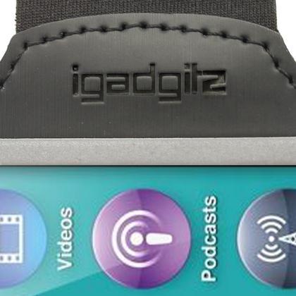 iGadgitz Black Reflective Anti-Slip Neoprene Sports Gym Jogging Armband for Apple iPod Nano 7th Generation 16GB Thumbnail 6