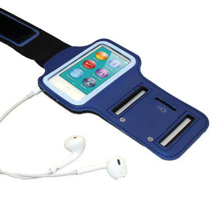 iGadgitz Blue Reflective Anti-Slip Neoprene Sports Gym Jogging Armband for Apple iPod Nano 7th Generation 16GB Thumbnail 4