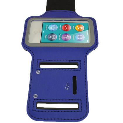 iGadgitz Blue Reflective Anti-Slip Neoprene Sports Gym Jogging Armband for Apple iPod Nano 7th Generation 16GB Thumbnail 3