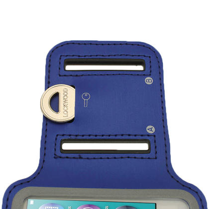 iGadgitz Blue Reflective Anti-Slip Neoprene Sports Gym Jogging Armband for Apple iPod Nano 7th Generation 16GB Thumbnail 6