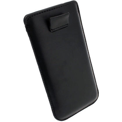 igadgitz Black Leather Pouch Case Cover for Apple iPod Touch 6th & 5th Generation Thumbnail 4