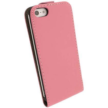 iGadgitz Pink PU Leather Flip Case for SE, 5S & 5 + Screen Protector (Not suitable for iPhone 5C) Thumbnail 6