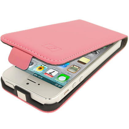 iGadgitz Pink PU Leather Flip Case for SE, 5S & 5 + Screen Protector (Not suitable for iPhone 5C) Thumbnail 7