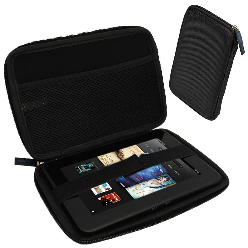 "iGadgitz Black EVA Hard Case for Amazon Kindle Fire HD HDX 7"" (2012 & 2013 Versions) Wi-Fi 8GB 16GB 32GB 64GB Tablet"