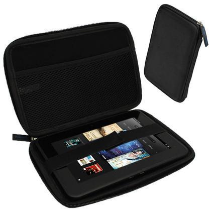 "iGadgitz Black EVA Hard Case for Amazon Kindle Fire HD HDX 7"" (2012 & 2013 Versions) Wi-Fi 8GB 16GB 32GB 64GB Tablet Thumbnail 1"