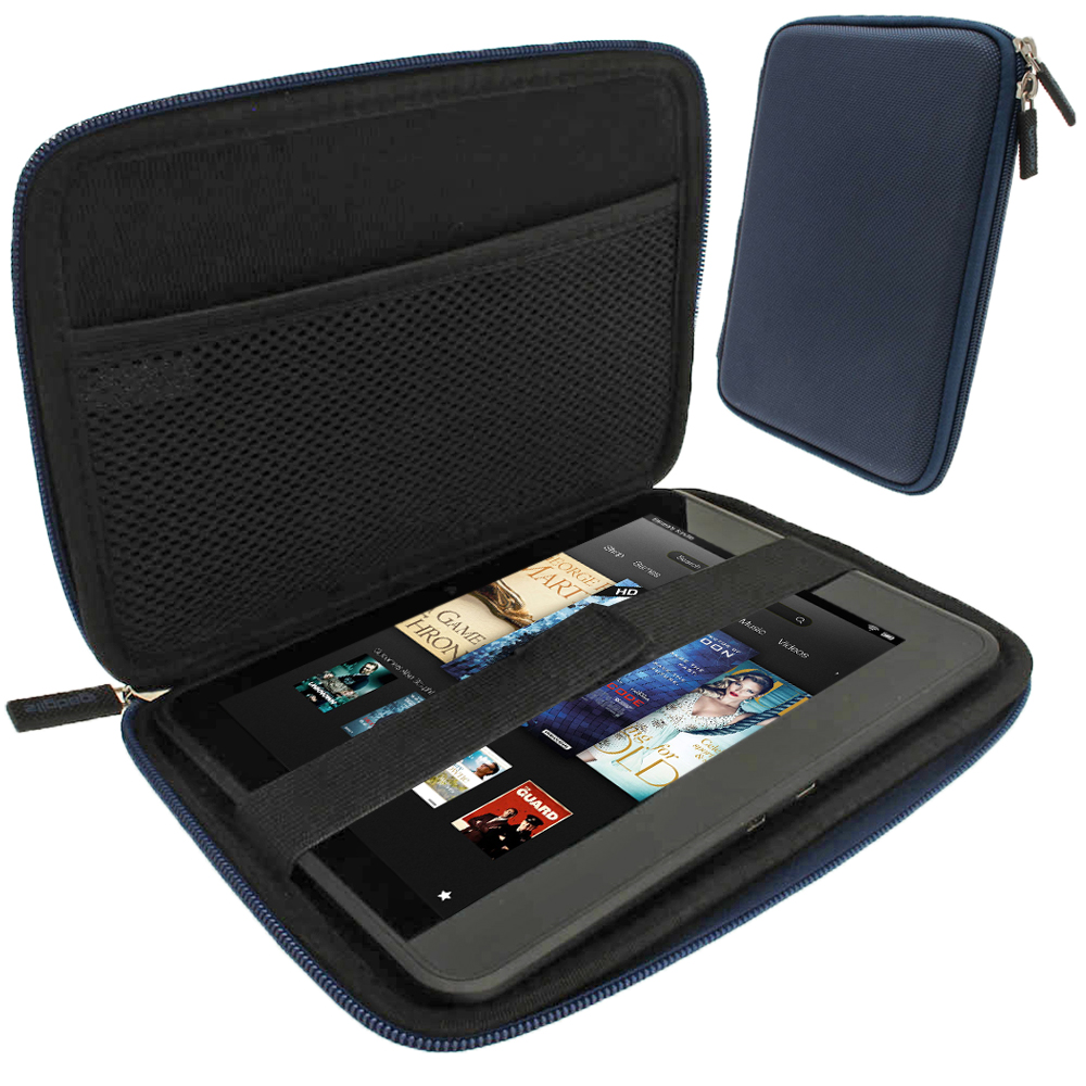 "iGadgitz Blue EVA Hard Case for Amazon Kindle Fire HD HDX 7"" (2012 & 2013 Versions) Wi-Fi 8GB 16GB 32GB 64GB Tablet"