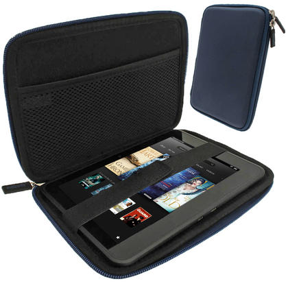 "iGadgitz Blue EVA Hard Case for Amazon Kindle Fire HD HDX 7"" (2012 & 2013 Versions) Wi-Fi 8GB 16GB 32GB 64GB Tablet Thumbnail 1"
