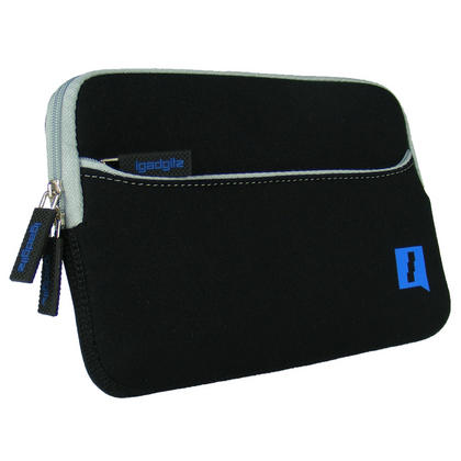 """iGadgitz Black Neoprene Sleeve Case with Front Pocket for Amazon Kindle Fire HD HDX 7"""" (2012 & 2013 Versions) Thumbnail 3"""