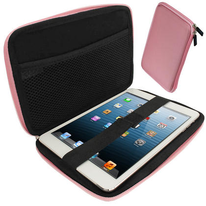 iGadgitz Pink EVA Zipper Travel Hard Case for Apple iPad Mini 1st Gen & 2nd Gen with Retina Display (launched Oct 13) Thumbnail 1