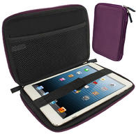 iGadgitz Purple EVA Zipper Travel Hard Case for Apple iPad Mini 1st Gen & 2nd Gen with Retina Display (launched Oct 13)