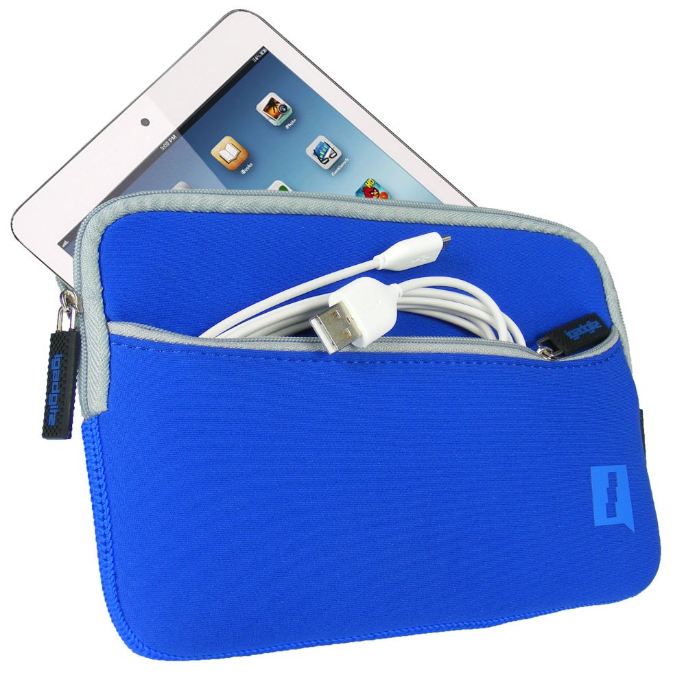 Blue Neoprene Case Cover with Front Pocket for Samsung Galaxy Tab S2 8'' SM-T710 Protective Sleeve