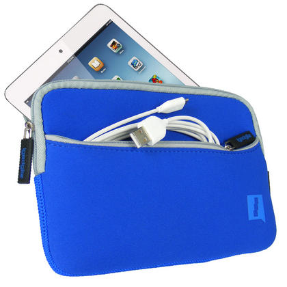 Blue Neoprene Case Cover with Front Pocket for Samsung Galaxy Tab S2 8'' SM-T710 Protective Sleeve Thumbnail 1